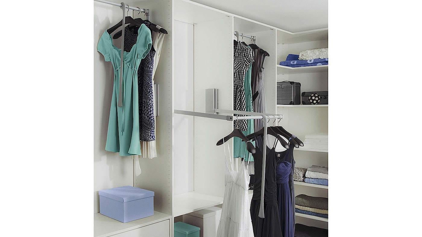 White walk-in wardrobe interior